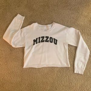 NWOT MIZZOU Crop Top Crewneck